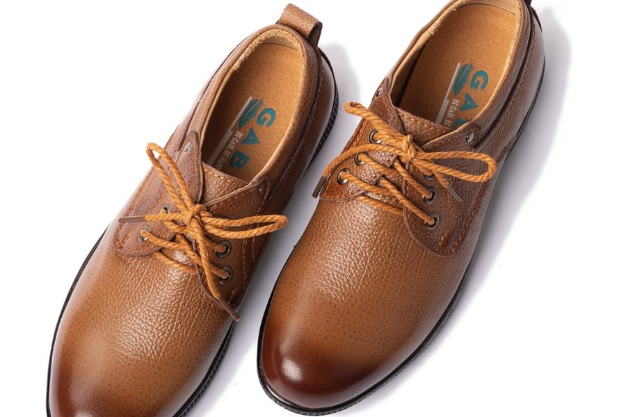 Giày da thể thao nam có dây cột lịch lãm màu vàng bò GBTT26NAU