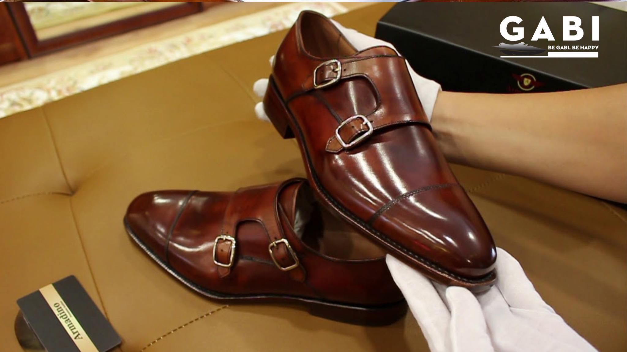 Giày da Monk Strap