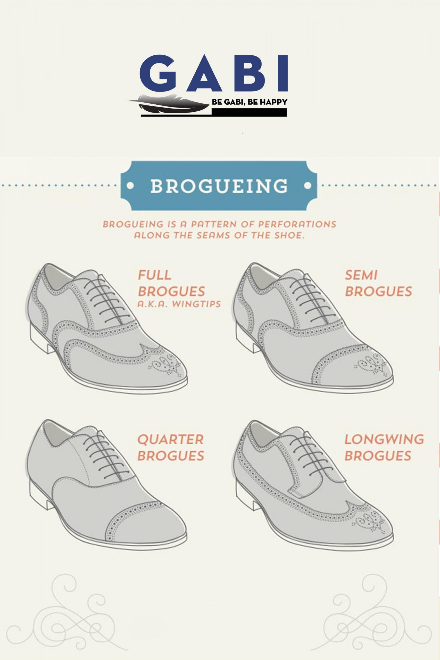 Nhóm giày da Brogueing