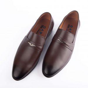Giày tây cao cấp vạt ngang màu nâu GBCC05NAU