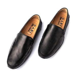 Giày lười nam cao cấp màu đen da trơn GBL09-1
