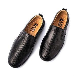 Giày lười nam cao cấp màu đen GBL27-1