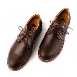 Giày da nam thể thao cao cấp màu nâu dây cột hiện đại GBTT01-2