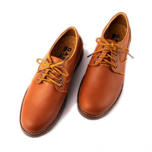 Giày da nam thể thao cao cấp màu vàng bò dây cột hiện đại GBTT01-3