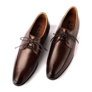 Giày tây nam công sở cao cấp dáng cổ điển màu nâu mũi đổ bóng GBVP03-2